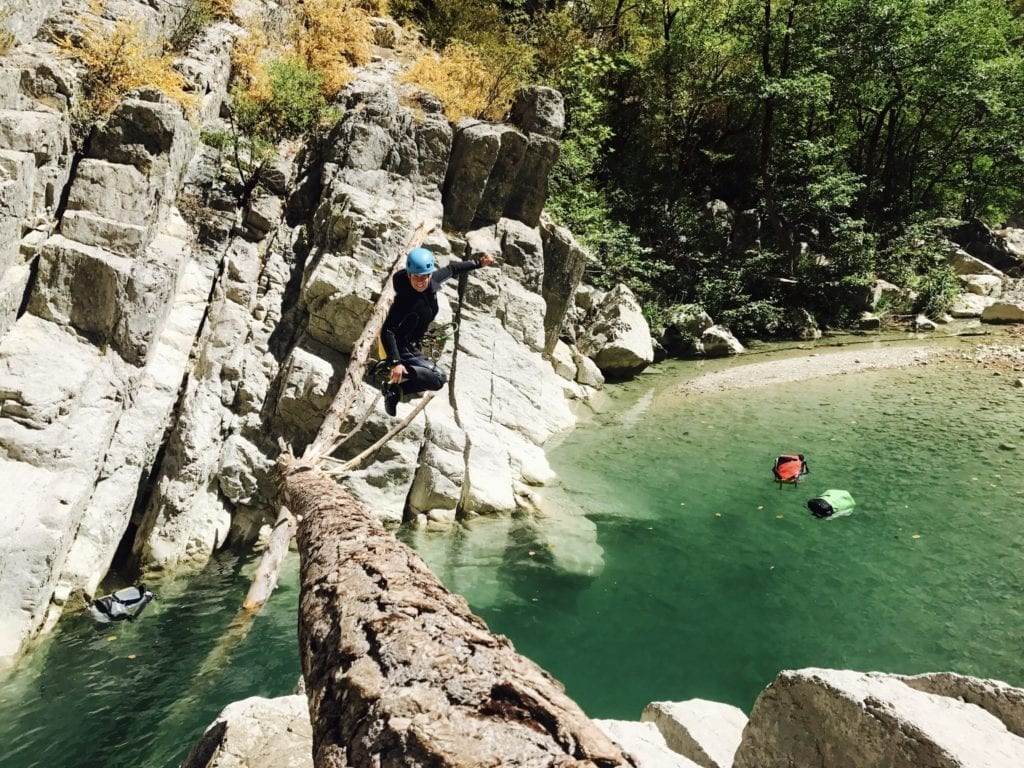 Canyoning in the Verdon - Canyon du gours du Ray