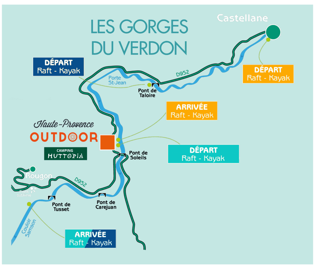 Map - Rafting courses