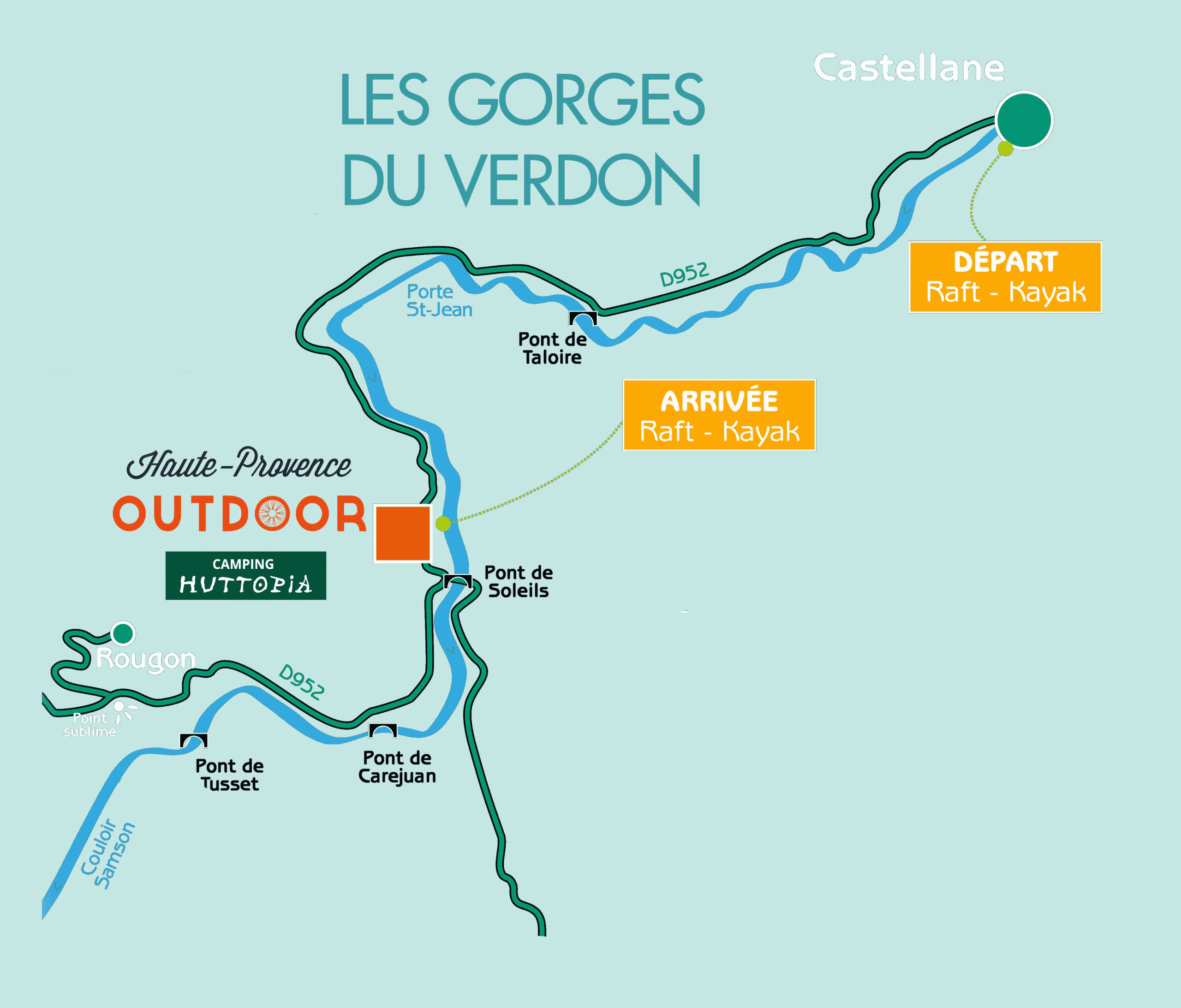 Discovery courses - rafting canoë