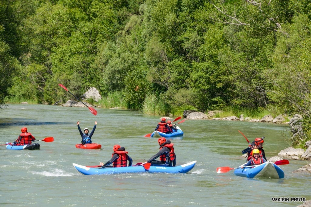 Canoeing activity in the Gorges du Verdon
